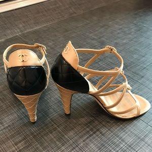 Chanel Black and Beige Heels